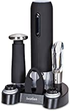 Ivation Wine Gift Set, Includes Electric Wine Bottle Opener, Wine Aerator, Vacuum Wine Preserver, 2 Bottle Stoppers, Foil Cutter & Charging Base