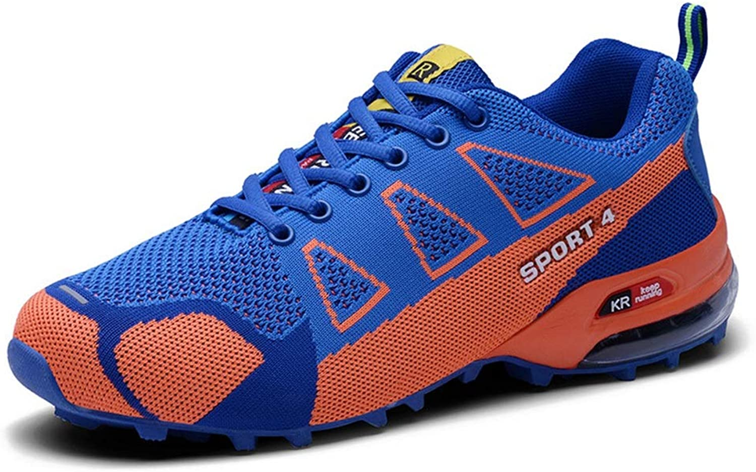 Ywqwdae Mens Casual Sport Trainers Soft Sole Climbing Walking Non Slip Outdoor Sneakers (color   bluee, Size   UK 10.5)