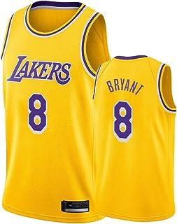 MZAW Los Kobe Maillot de basket-ball Angeles Hommes Lakers Style Basketball Uniforme Bryant Polyester Fiber Sans Manches Bleu
