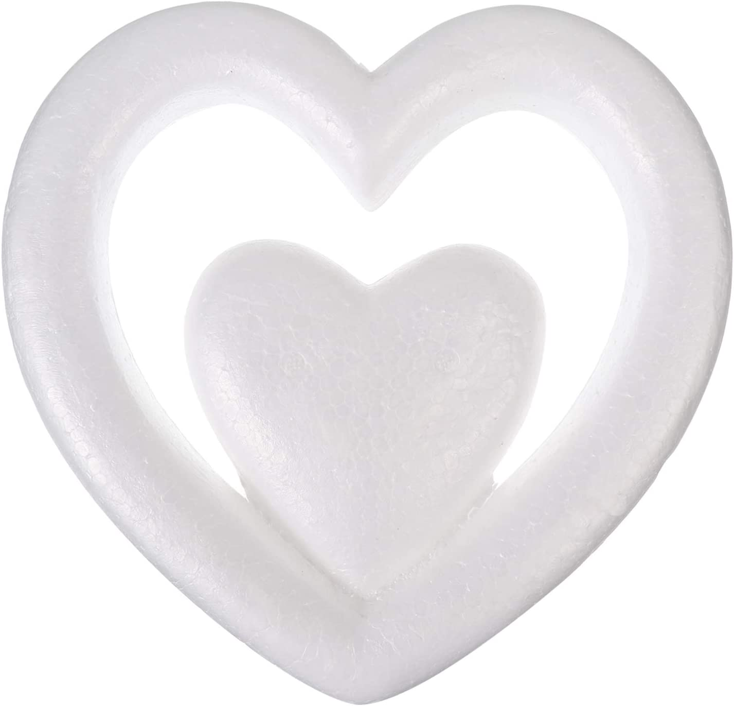 PRETYZOOM Foam Hearts 25CM Genuine Styrofoam Balls Ball 5 ☆ very popular Craft White