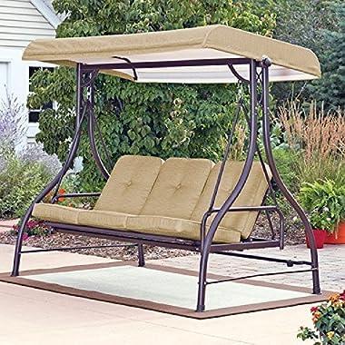 Mainstay* 3 Seat Porch & Patio Swing (Tan) (Tan)
