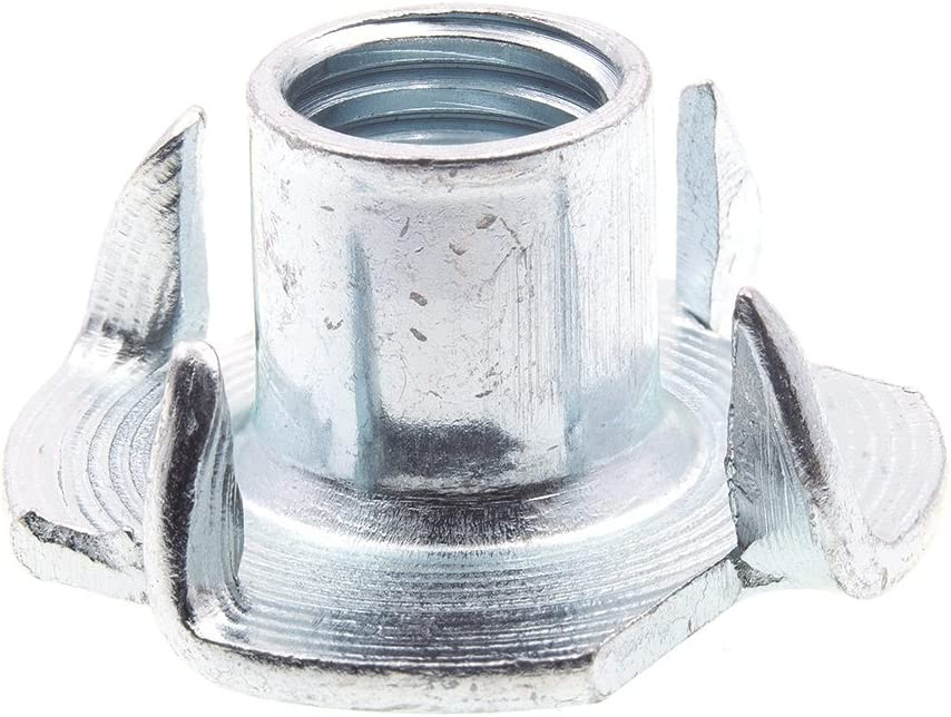 Prime-Line 9078885 T-Nuts 4-Prong 100% quality warranty List price Metric Zinc M8-1.25 Plated