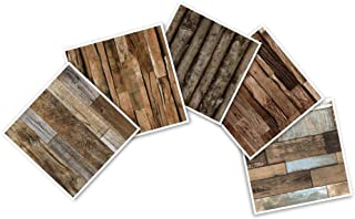 HaokHome S5005 Faux Wood Plank Wallpaper Sample,8-Inch X 10-Inch