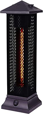 Star Patio Electric Patio Heater, Outdoor Heater, 1200W Freestanding Infrared Heater with Matte Black Finished, Tip-Over Protection, IP55 Outdoor Patio Heaters, STP1299-RMHD-S New