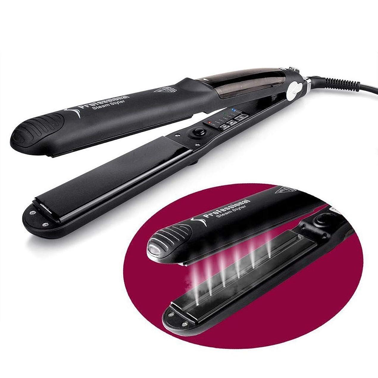 九時四十五分勤勉マウンドスタイリングのための髪のすべてのタイプのための調節可能な温度でスチーム & 負イオンによって鉄を矯正ヘアストレート