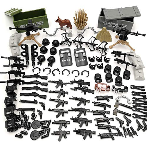 DOLL Custom Military SWAT Police Team Toy Weapons / Guns Set Compatible Major Brands Building Blocks (Weapons - 1)