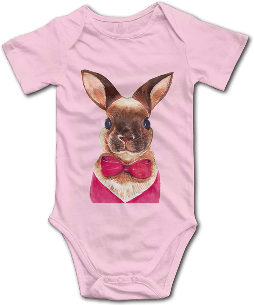 Itong1 Toddler Climbing Bodysuits Bunny Baby Onesies Cotton Short-Sleeve Jumpsuit Clothes