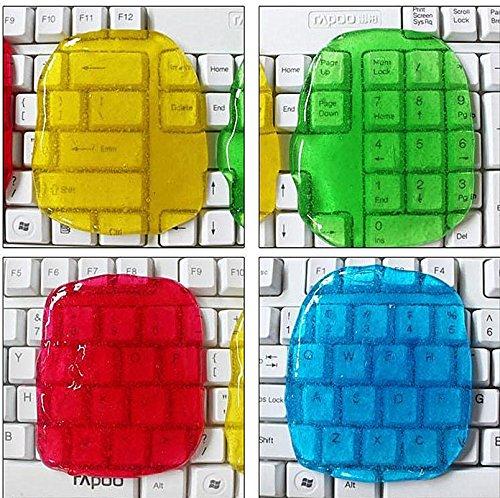 JYSPORT Staubreiniger, wiederverwendbar, Tastatur, Schmutzreinigung, Magic Super Gel-Knete für Ihre Fernbedienung, Handy und Auto, 4 Stück