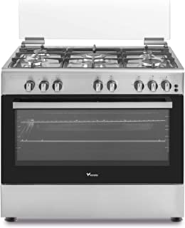 Veneto 90 X 60 cm 5 Gas Burners, Free standing Gas cooker, Stainless Steel - C3X96G5VC.VN