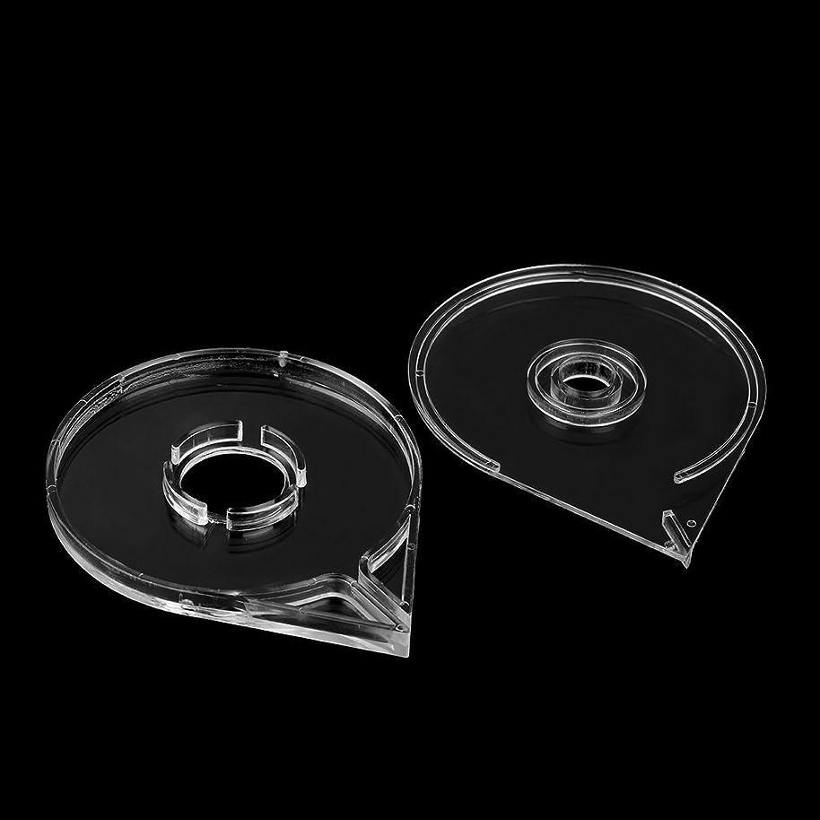幾何学大気リレー新しいシンプル便利なネイルアートストライピングテープラインケースボックスホルダーツールプラスチック