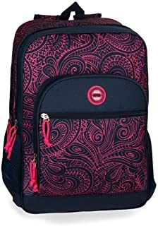 Movom Paisley Sac à dos double compartiment adaptable au chariot Multicolore 32x45x15 cms Polyester 0 21.6L