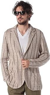 (ラルディーニ) LARDINI ブートニエール 麻100% ストライプ シングル ニットジャケット [LDLJM56EG52009] [並行輸入品]