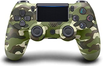 Wireless Bluetooth Controller for Playstation 4 with Dual Vibration Compatible with Windows PC & Android OS- Green Camouflage