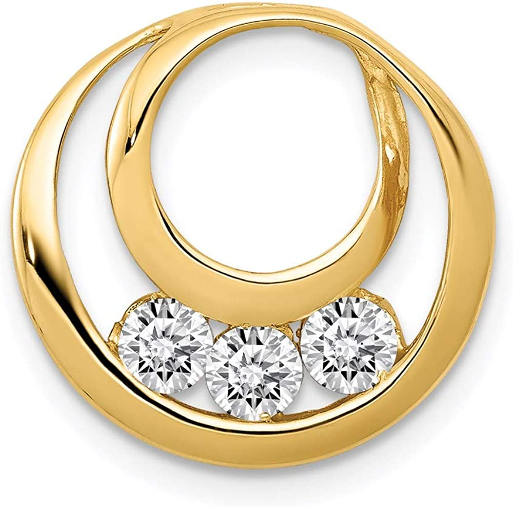 Charm Pendant 14K Yellow Gold Diamond 17 Super beauty product restock quality 100% quality warranty! top mm In Round 1.77