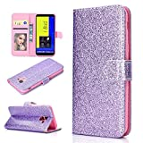 Samsung Galaxy J6 2018 Case Glitter, Shockproof Bling PU