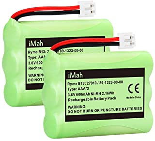 iMah 27910 Cordless Phone Battery Pack Compatible with AT&T 89-1323-00-0 Motorola SD-7501 Vtech 27910 I6725 RadioShack 23-959 Home Handset 3.6V Ni-MH, Pack of 2