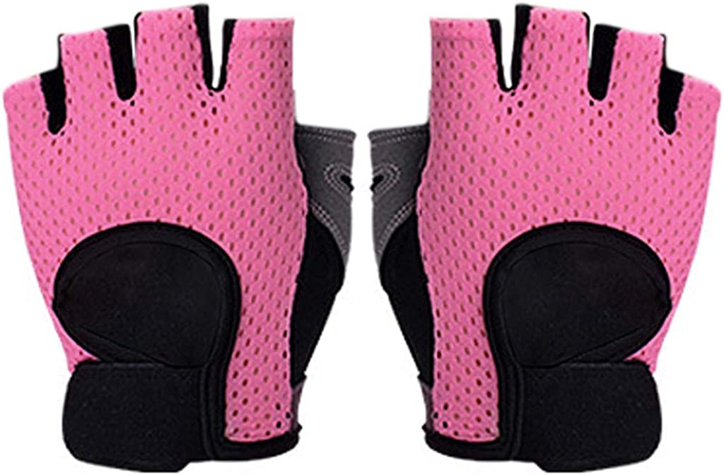 Winter Gloves for Women, Half Finger Gloves Breathable Mesh Fitness Training Mittens