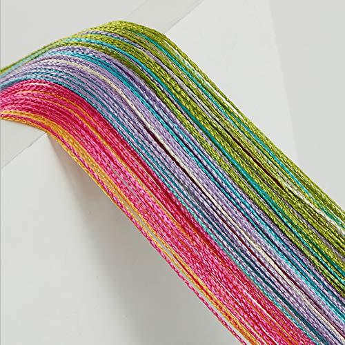 Finoki Cortina de hilos para puerta, dormitorio, baño, 100 x 200 cm (multicolor)