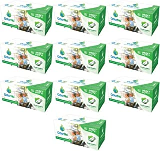 OdorNo ADU-2-4025 Odor-Barrier Disposable Bags; 2 Gallon Capacity; Green; Case of 250 Bags with 10 Boxes of 25 Bags Each; Biodegradable, Eco-Friendly, and Compostable; Made of FDA-approved plastics