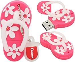 32GB Flash Drive Pink Slippers Shoes Shape USB 2.0 Novelty Pendrive Memory Stick Data Storage Thumb Drive U Disk Cool Design Data Storage for School Students Kids Children Gifts