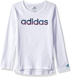 5d86cd831 adidas Girls' Little Long Sleeve Logo Tee