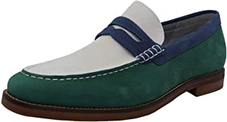 Color : Coffee, Size : 6.5 MUS TongLing Mens Driving Penny Loafers Genuine Leather Boat Moccasins Rubber Studs Sole Dress Shoes