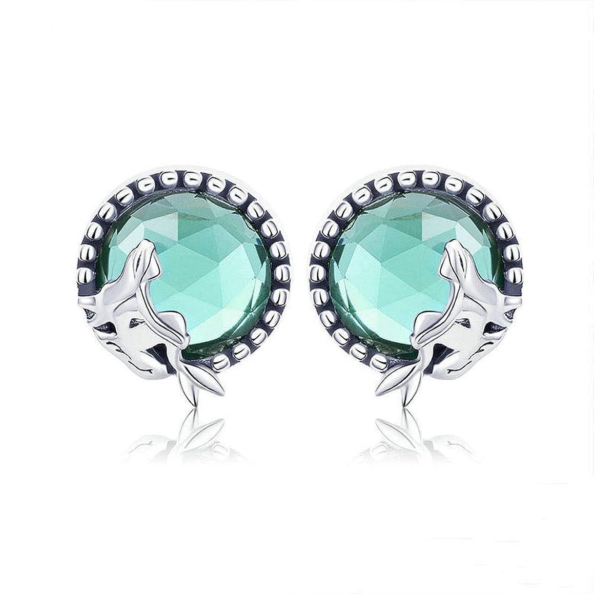 Earrings 925 Sterling Silver Dangler for Women Girls Classic Crystal Ear Hoop (Mermaid)