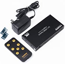 DTECH 3x1 HDMI 2.0 Switch 4K 60Hz 4:4:4 HDR 18Gbps with IR Remote Power Adapter Rack Mount Support HDCP 2.2 CEC for HDTV PS4 Xbox Monitor - 3 in 1 Out
