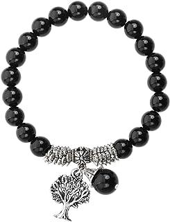 Jovivi 8mm-Bracelet en Pierre Naturelle Chakra Perles d'Energie Pierre Précieuse Extensible Elastique Tibétain Bouddhiste ...
