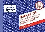 AVERY Zweckform 1718 Rechnung speziell für Österreich (A6 quer, 3x40 Blatt, selbstdurchschreibend mit farbigen Durchschlägen, zur Erfassung aller rechtlich erforderlichen Angaben) weiß/ gelb,/rosa