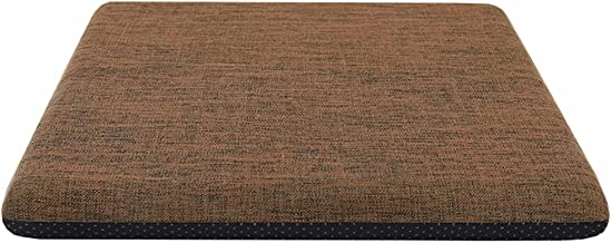 WHOJA Memory Foam Support Kussen Katoen en linnen stof Gemakkelijk uit elkaar te halen en te wassen Dikken 4,5 cm Anti-sli...