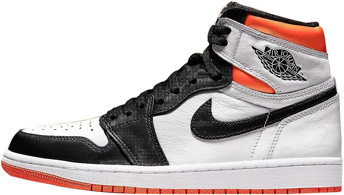 Air Jordan 1 Retro High OG Elect Men's Orange Shoe New arrival White All items free shipping Electro