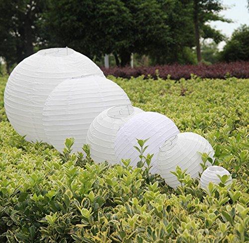 Bigood 9pcs Lampion Décoration Fête Ronde Lanterne Mariage Noël Halloween 20cm