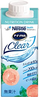 Nestle(ネスレ) アイソカル クリア clear ピーチ味 (ホエイ プロテイン たんぱく質) 栄養補助食品 栄養ドリンク お試しセット (200ml×4本セット)