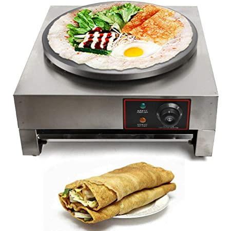 TFCFL Commercial Nonstick Electric 22cm Pancake Baker Crepe Maker Machine Iron Electric Crepe Maker for Blintzes Eggs Pancakes and More for Home and Restaurants