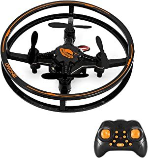 Mini Drone, RC Hover Quadcopter with 3D Flips Flashing LED Headless Mode 2.4G 4CH, Altitude Hold Remote Control Helicopter, My First RTF Stunt Drone for Kids Beginners