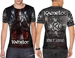Kamelot American Power Metal Band from Tampa Man TOP Shirt Fullprint Sublimation Custom Size S - 3XL
