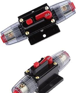 figatia Disjuntor Automático 60A + 30A Interruptor de Reinicialização Manual Fusível de áudio Do Carro