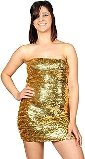 AK-Trading Exotic Glitzy Sequin Stretch Sequin Tube Dress