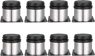 Drenky 8 stuks verstelbare poten 50 mm hoogte kastpoten verdikte tafelpoten meubelpoten, geborsteld roestvrij staal, inste...