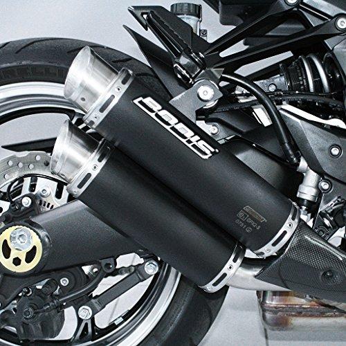 Auspuff Bodis GPX2-S Slip-On-Satz Edelstahl schwarz Z 1000 ABS ZRT00D SX ZXT00G ZXT00L