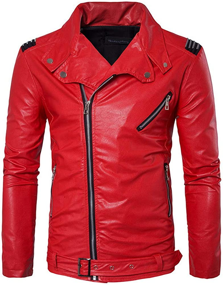 Men's Popular shop is the lowest price challenge Slim Fit Max 60% OFF Leather Jacket Coat Casual Fashion