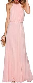 Women's Halter Pleats Prom Dress 2019 Formal Evening Gown LF181