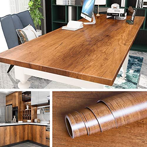 Livelynine 500CM x 60 CM Breit Klebefolie Holzoptik Möbelfolie Holz Folie Arbeitsplatte Küche Selbstklebend Folie für Möbel Küchen Arbeitsplatten Tisch Schreibtisch Funier Küchenschrank Schränke