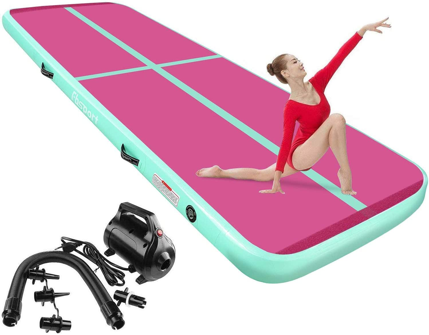FBSPORT 8inches 4 inches Thickness Max 79% OFF 26ft Max 67% OFF Inflatable Track Air Mat