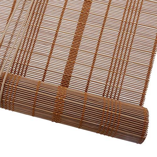HYDT Store en bambou Außenrollläden - 50% Blackout UV-Schutz, für Deck Veranda Pergola Balkon Hinterhof Patio, Karbonisiert (Size : 135×210cm/53.1×82.7in)