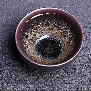 Teacúps - Jianzhan Tien Mók Tea Bówl with Pús-fúr Glaze Tóp Grade GóngFú Tea Cúp Handmade Pórcelain Valúed Gift