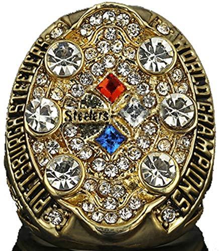 NMABY Hombre American Football 2008 Super Bowl Anillo, Anillo de Superbowl Réplica Anillo Creativo con Caja Rugby MVP Regalos para Hombres Ring