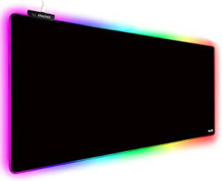 Extended RGB Gaming Mouse Pad Extra Large Gaming Mouse Mat for Gamer Waterproof Office DEST Mat with 10 Lighting Mode for ...