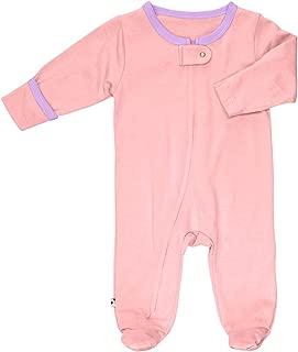 Zipper Footies - Baby Footed Pajamas Sleeper Solid Colors 0-12 Months